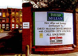 McLean's sign on Dee house