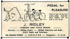 bike shop advert 1955