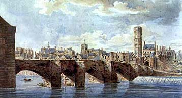 old painting of dee bridge