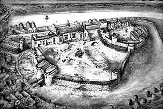 chester castle from above