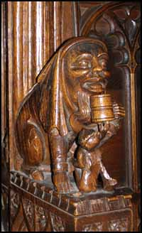 carving of drinker