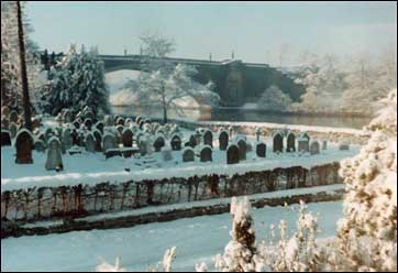 overleigh cemetery under snow 1981