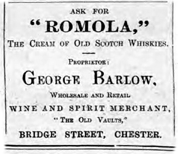 barlows advert 1903