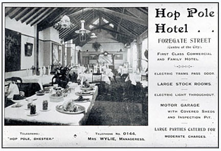 hop pole hotel advert