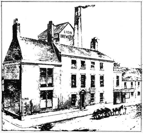 lion brewery drawing