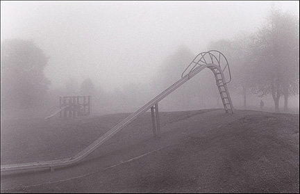 old slide in park