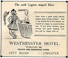 westminster hotel advert 1955