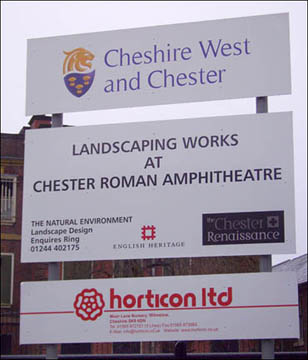 amphitheatre works sign