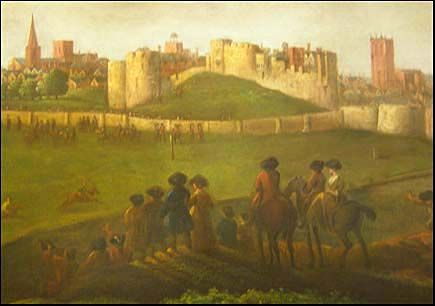 old painting of Chester Castle
