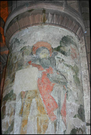 painting of Christ in St John's church