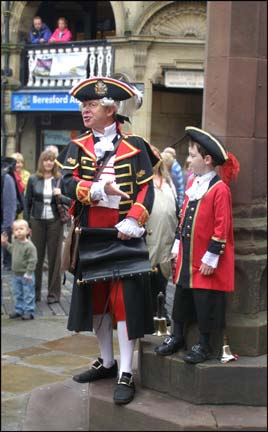 town crier and son
