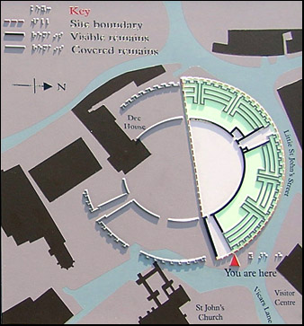 plan of amphitheatre