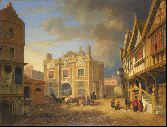 painting of old exchange