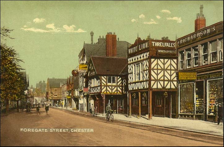 view of white lion and foregate street