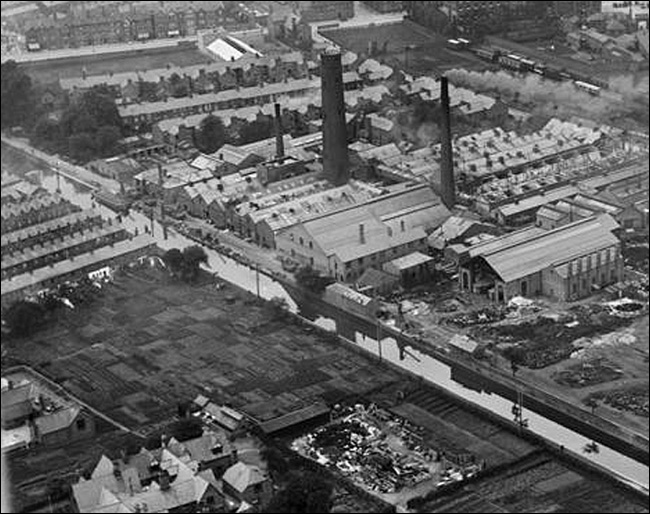 aerial view of leadworks 1920