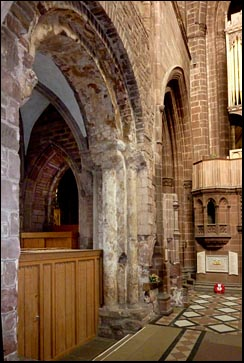 norman arch in cathedral