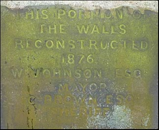 wall repair plaque