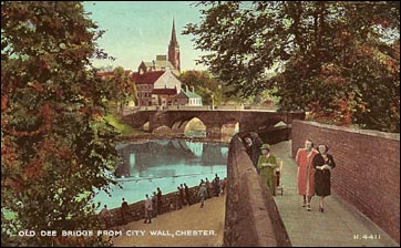 city wall and river dee