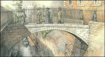 painting of bridge od sighs