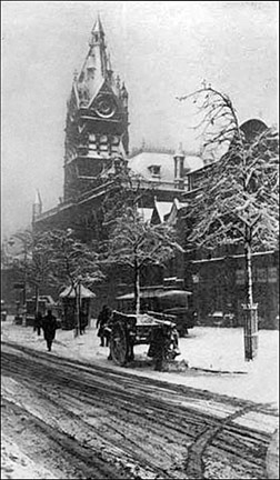 snowy town hall 1917