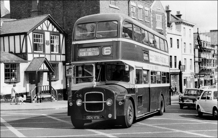 bus outside red lion