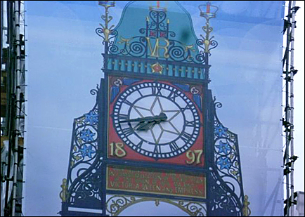eastgate clock cover wrongly printed