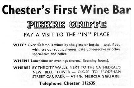 wine bar advert