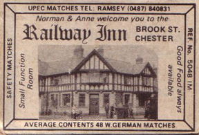 railway inn matchbox