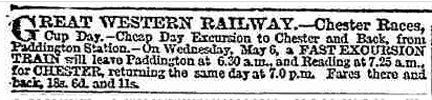 advert for races trains
