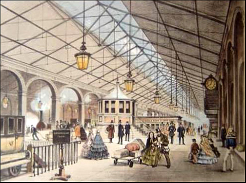 inside of station 19th c