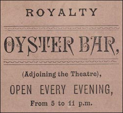 oyster bar advert
