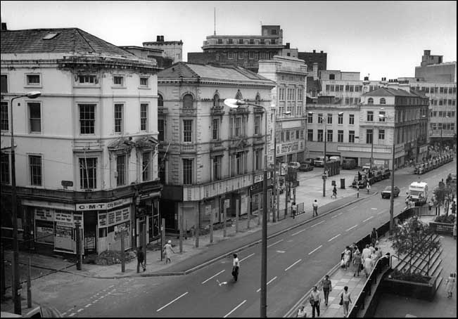 A photo of Clayton Square just before demolition in 1986
