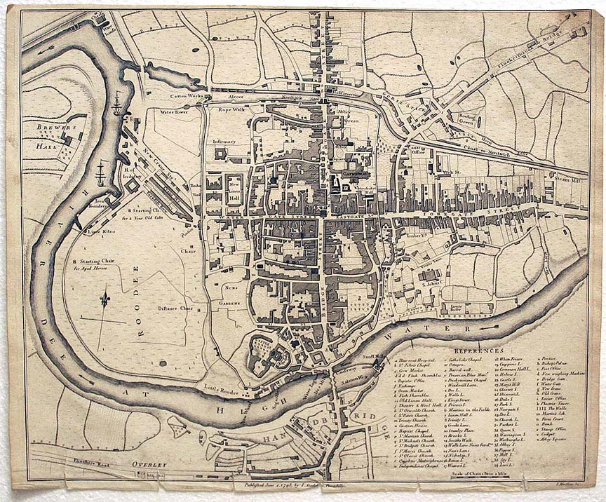 Stockdales map of Chester 1795