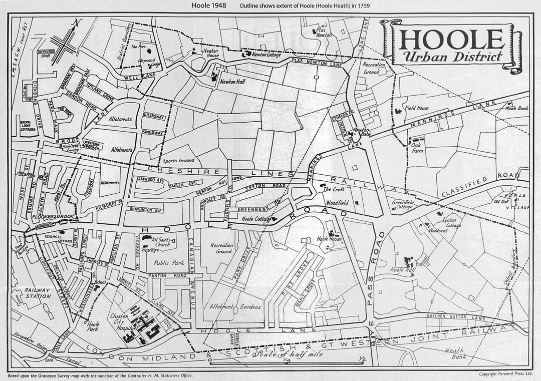 map of Hoole 1948