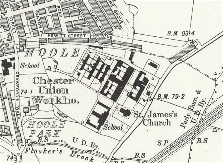 workhouse map 1908